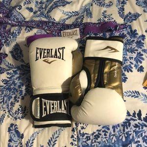 Everlast 12 oz boxing gloves.